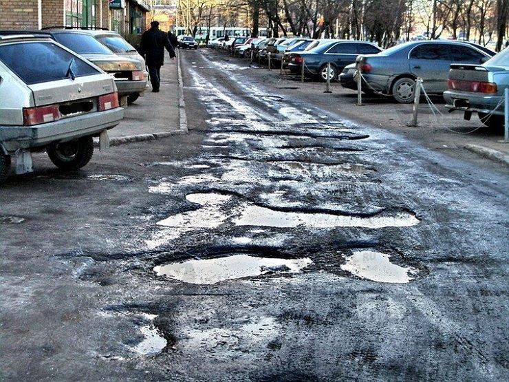 Кампания по улучшению качества дорожного покрытия в Могилеве.